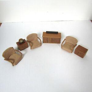 Vtg 50s 60s Dollhouse MID CENTURY FURNITURE MCM Living Room Sofa Crailsheimer?