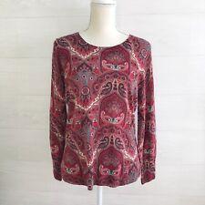 NWT Talbots: Paisley 100% MERINO wool lightweight sweater, PL