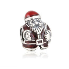Authentic Sterling Silver Pandora Red St. Nick Santa Charm 791231ENMX Bead