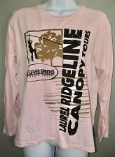 Seven Springs Mountain Resort Laurel Ridgeline Canopy Tours Pink T-Shirt M. Gl71