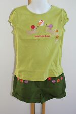 Gymboree Pretty Posies Girls Size 5T 5 Dog Puppy Top Shirt NWT Green Shorts NEW