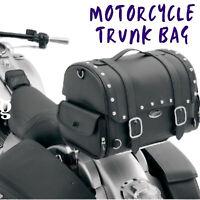 Large Motorcycle Trunk Bag Rear Luggage Carrier Storage Bag Saddlebag Leather