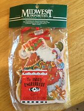 Mary Engelbreit Santa Wood Christmas Ornament Midwest Cannon Of Falls New Nos
