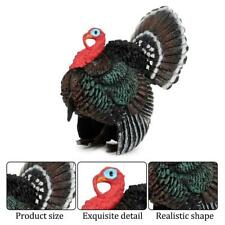 Simulation Miniature Turkey Figure Model Toy Figurines Playset Kids Gift Garden