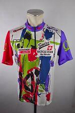 Gonso radtrikot Cycling Jersey maglia rueda camiseta talla L Max Hürzeler vintage Swiss
