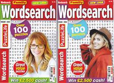 WORDSEARCH PUZZLE BOOKS - 2 BOOK SET - 200+ PUZZLES - SET 120