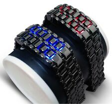 LED Gunmetal Grey / Silver Lava Faceless Bracelet Style Fashion. 2014 Fashion.