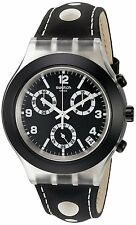 Swatch Black Cup Chronograph Plastic Mens Watch Swatch SVCK4072