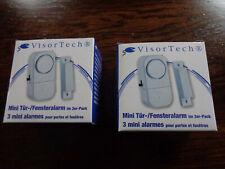 6 x VisorTech Mini Alarmanlage mit Tür + Fensterkontakt Hausalarm Fenster Alarm