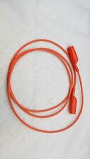(2) LOT POMONA ALLIGATOR CLIP PATCH JUMPER CABLE ORANGE AL-B-60-3 FREE SHIP