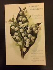 "Vintage greeting card postcard unused original ""A Happy Christmas"" Christmas"