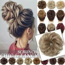 Real Thick Curly Messy Bun Hair Piece Scrunchie Natural Hair Extensions as human