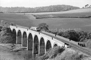 Lynher Viaduct Class 121 DMU M55012 20.10.88 John Vaughan Negative RN109