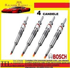 4 CANDELETTE BOSCH FIAT BRAVO II 1.9 D Multijet DAL 2007 110KW 150CAVALLI 025020