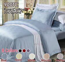 Pure Cotton 900TC Jacquard Waffle Check  Pattern Sheet Set in MOCHA QUEEN