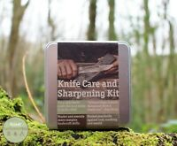 Compact Field Knife Sharpening Care Kit - Bushcraft Knife -Sharpening Stone, EDC