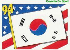 148 FLAG DRAPEAU SOUTH KOREA BLEU BACK FIGURINE VIGNETTE STICKER USA 94 BROCA