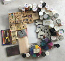 Large Lot of Rubber Stamps & Embossing/Craft Supplies