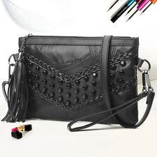 Women Sheepskin Solid Color Mini Messenger Bag Shoulder Crossbody  Handbags