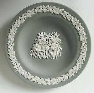 Wedgwood Grey Jasperware Australian Darwina Miniature Plate