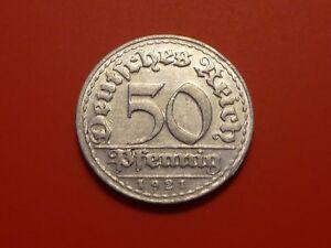 Germany, Weimar Republic 50 Pfennig, 1921 D
