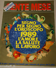 GENTE MESE=1989/1=SEGNO PER SEGNO ZODIACO OROSCOPO=AMORE=SALUTE=LAVORO=