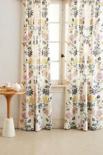 "Anthropologie Kalei Lined Curtain Panel floral Sz 50"" X 84"" Long New W/Out Tags"