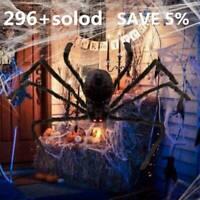 1x 125cm/6.6FT Plush Giant Spider Decoration Halloween Haunted House Garden Prop