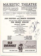 1943 Magestic Theatre Playbill Signed by Conductor Robert Stolz- The Merry Widow