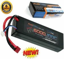 Powerhobby 2S 7.6V HV 6000mAh 100C Lipo Battery Pack w Deans Plug Hard Case