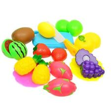 13Pcs Plastic Cutting Fruits Toy Playset Children Kids Pretend Play Toy Game