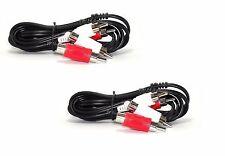 TWO 6ft 2 RCA Plug PiggyBack Jack to 2 RCA Plug