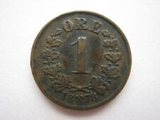 Norway 1878 bronze 1 Ore, GF.