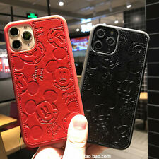 3D Disney Cartoon Mickey Mouse PU Leather Case for Apple iPhone 12 Pro Max 11 XS