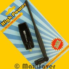 Usb wlan stick Adaptateur avec 6dbi antenne 802.11 B/G/N 300 Mbit win7 win8 win10