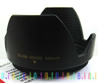 New 58MM LENS HOOD For Canon 650D 600D 550D 700D 18-55 Screw HOOD