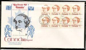 Canada SC # 586 Sir John A. Macdonald FDC. Block Of 8. Kingswood Cachet