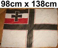 DEUTSCHES REICH DEUTSCHLAND FAHNE FLAGGE KAISERLICHE MARINE REICHSKRIEGSFLAGGE