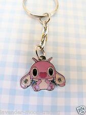 CUTE DISNEY PINK LILO & STITCH ANGEL KEYRING/Keychain/bag charm/gift