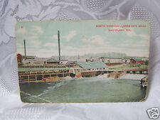 1910 Northwestern Lumber Co. MIlls Eau Claire Wi   Old  Postcard