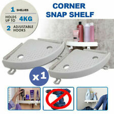 Bathroom Triangular Shower Shelf Corner Bath Storage Holder Organizer Rack USA