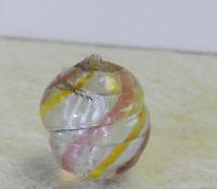 #12632m Vintage German Handmade Latticino Swirl Marble .57 Inches
