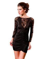 Vestiti da donna mini nero fantasia stampa animalier  83b221c95e6