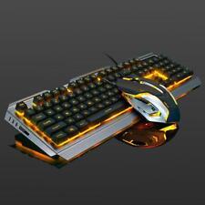 V1 USB Wired Ergonomic Backlit Mechanical Gaming Keyboard and Mouse Set W/ Panel