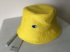 RICK OWENS x CHAMPION UNISEX YELLOW BUCKET HAT RETAIL £80 MADE IN ITALY BNWT