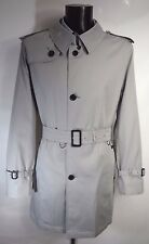AQUASCUTUM 'CORBY' Rain Trench Coat LT GREY sz 48 BNWT Made in UK