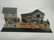 Model Railway Diorama of Scratch Built Fish & Chips Shop, Builders Merchant 00 G