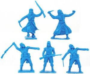 Cherilea Recasts - 5 Foreign Legion and Arabs - unpainted 54mm plastic