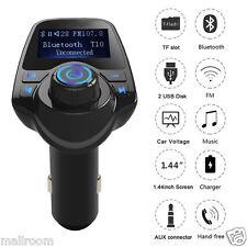 In-Car Bluetooth FM Transmitter Radio Adapter MP3 Player Ladegerät Kit Handsfree