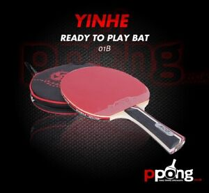 Yinhe Milky Way Table Tennis Bat + black case ITTF approved rubbers  01B UK P&P